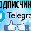Варианты накрутки подписчиков в Telegram